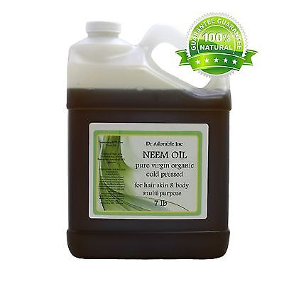 7 LB / 1 Gallon Premium Neem Oil Pure Organic Cold Pressed Best Multi