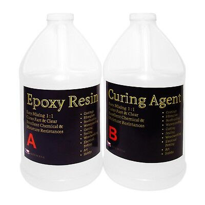 Epoxy Resin Wood (Crystal Clear Epoxy Resin General Purpose Bar Table Top Coating Wood - 1 Gal Kit )