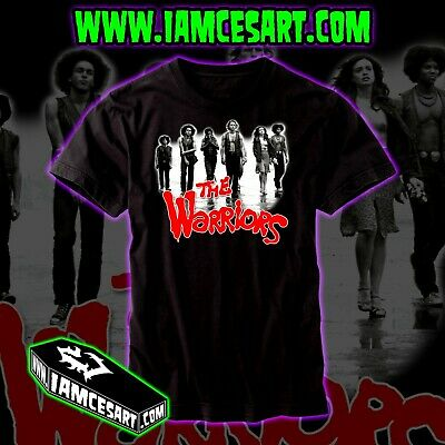 Halloween Movies Nyc (The Warriors Men's 100% Cotton DTG Tee movie classic NY NYC gangs)