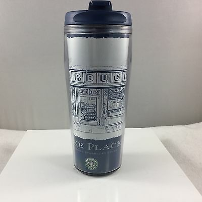 Starbucks Pike Place To Go Cup Mug Old Logo 2006 2008 Exclusive