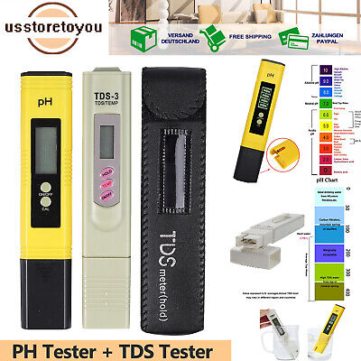 Digital PH Wert + TDS Wasser Messgerät Messer Tester Meter Aquarium Pool Prüfer