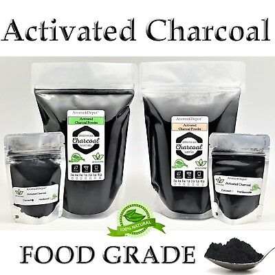 Activated Charcoal Powder Teeth Whitening Organic Bulk 100% Natural Food Grade