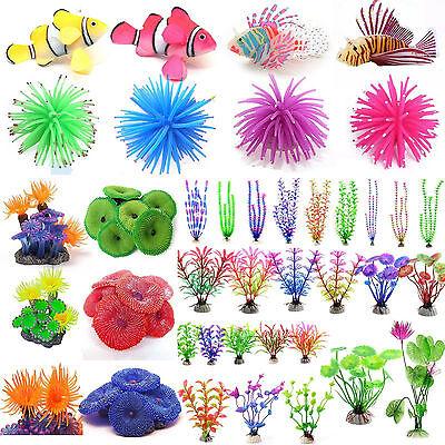 Aquarium Fish Tank Landscape Glow Simulation Animal Plants Ornaments Decorations (Glow Decorations)
