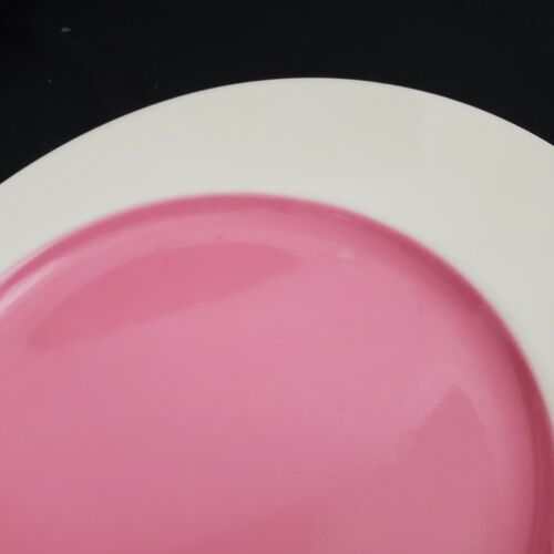 Villeroy Boch BEACH PARTY Pink And White Oval SAUCERS / PLATES Set Of 2 - $12.95
