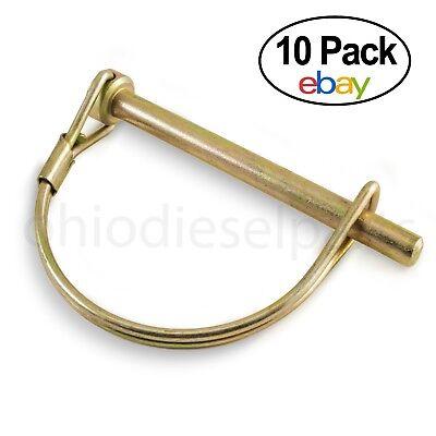 "PTO Round Wire Shaft Locking Pin 1/4"" x 2-1/4"" (10-PACK) S.271 P14PTL 4021413"