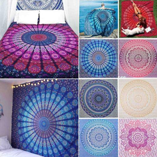 Hippie Indisch Mandala Tapisserie Wandteppich Wandbehang Blumen Matte Strandtuch