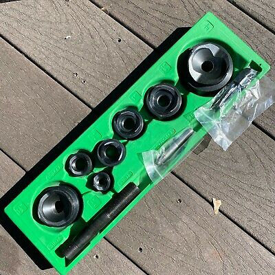 Great Greenlee 12 To 2 Hydraulic Slug Buster Knockout Punch And Die Set And