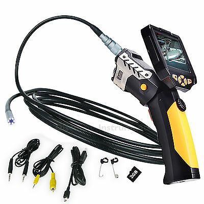 """3.5"""" HD DIGITAL ENDOSCOPE INSPECTION CAMERA 5M CABLE Adjustable 8.2 mm 4x Zoom"""