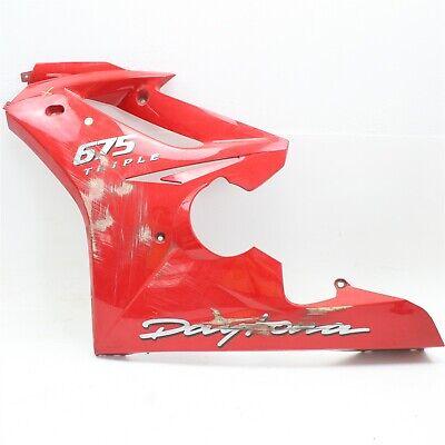 2009-2012 Triumph Daytona 675 OEM Lower Fairing Left Side Shroud Cowl T2305720