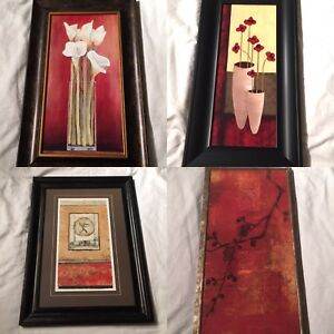Framed art all 4 $80