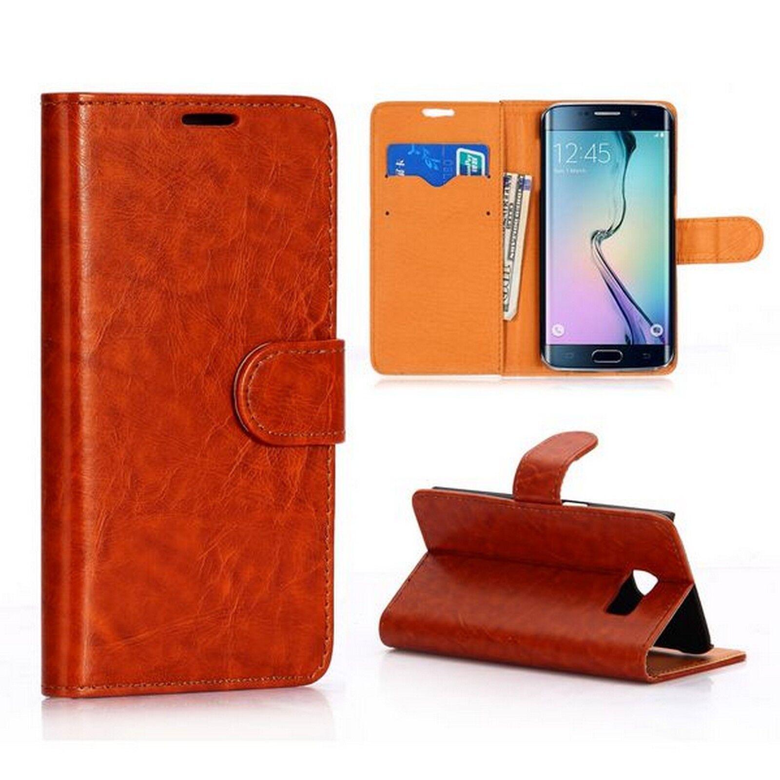 LUXURY Custodia Protettiva in Pelle per Samsung Tab s2 Tablet Custodia Cover Case Stand Marrone