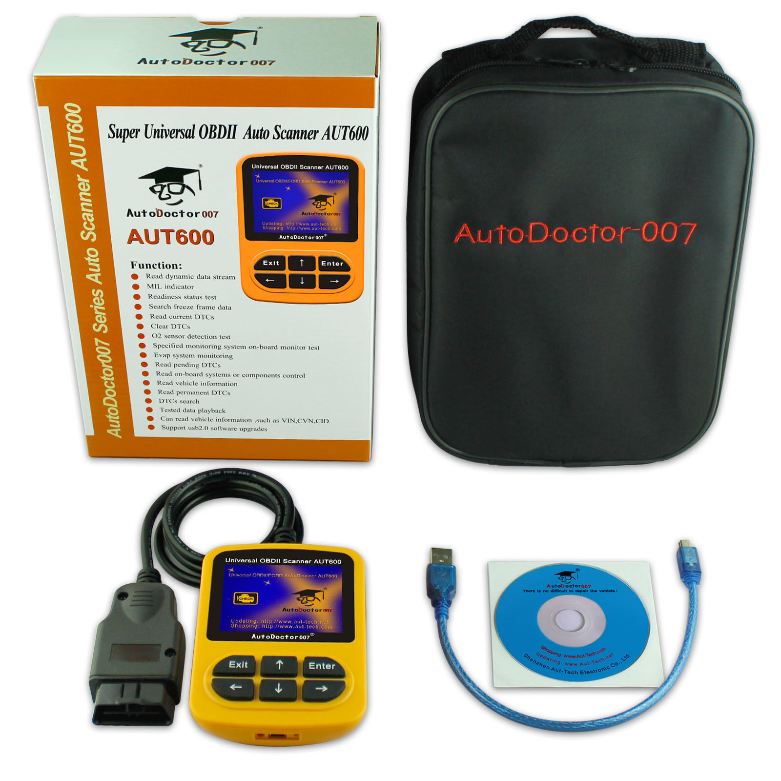 Universal AutoDoctor007 AUT600 OBD2 Reader Read Dynamic Data Stream for EOBD Car