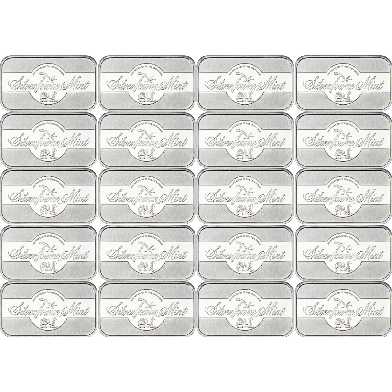 SilverTowne Mint Signature 1 oz .999 Fine Silver Bar LOT of 20