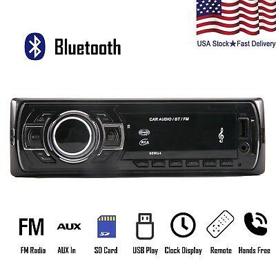 Car Stereo Receiver Audio Radio Bluetooth FM AUX IN USB MP3