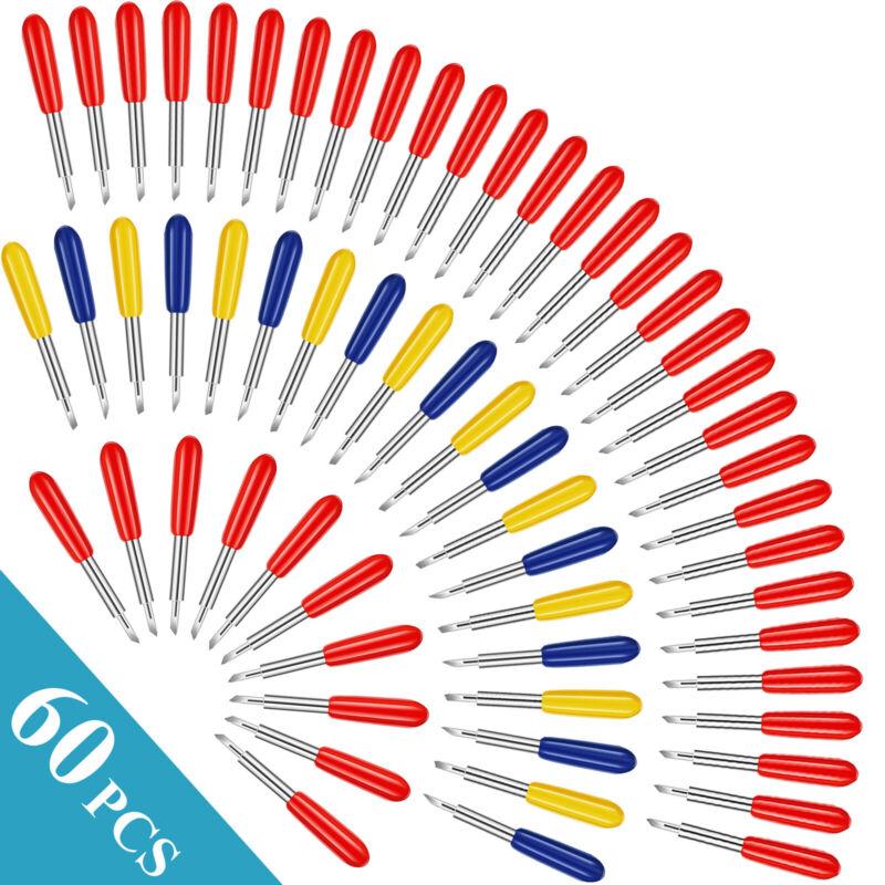 60PCS 30° 45° 60° Blades Fit for Cricut Explore Air 2 Vinyl Cut Machines Kit USA
