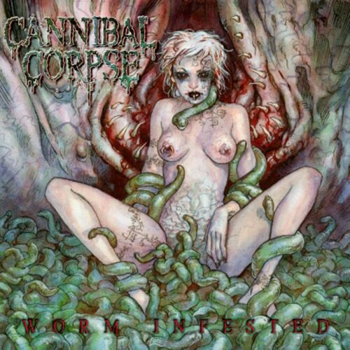 CANNIBAL CORPSE Worm Infested BANNER HUGE 4X4 Ft Fabric Poster Tapestry Flag art