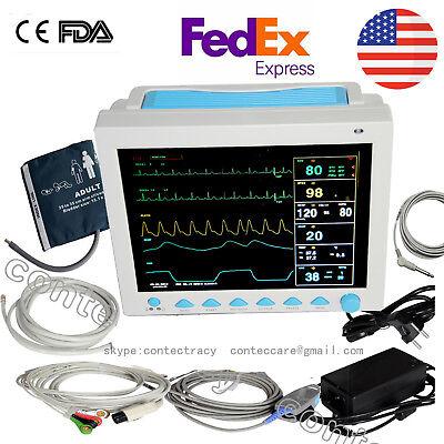 12.1 Icu Vital Sign Multi-parameter Patient Monitorecgnibpspo2prresptemp