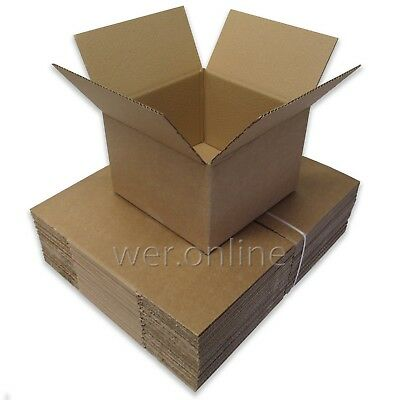 25 x Mailing Package Small Cardboard Boxes 9 x 9 x 6
