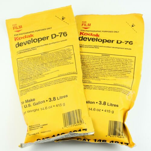 Two 1-Gallon Packages *Outdated* Kodak D-76 Film Developer - Sealed Packs