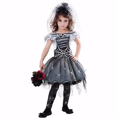 Goth Spider Bride Child Halloween Costume Size - Halloween Spider Bride