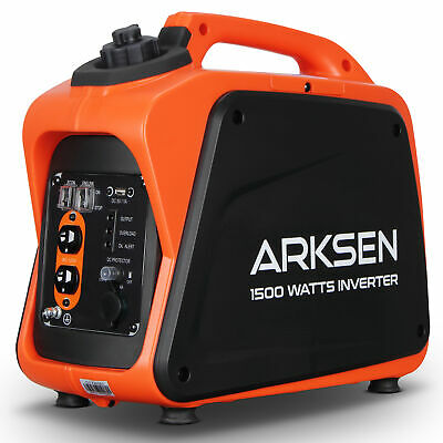 1500W Super Quiet Portable Gas-Powered Inverter Generator CARB EPA Compliant