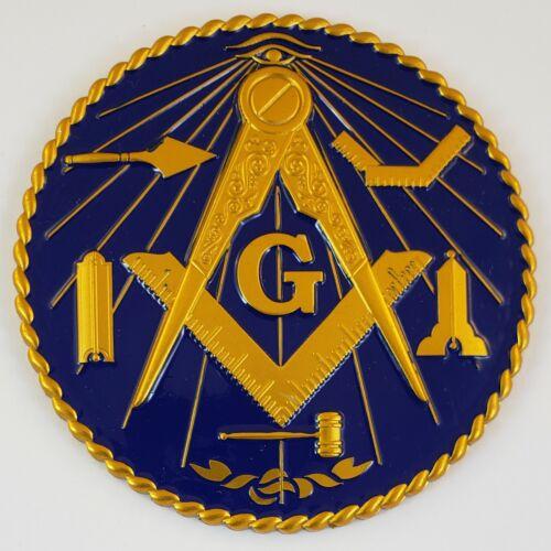 Auto Emblem Blue Lodge Working Tools Aluminum Masonic Freemason Mason