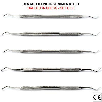 Brunitori Otturatori Strumenti Dentista per amalgama Conservativa-Amalgam 5 Size
