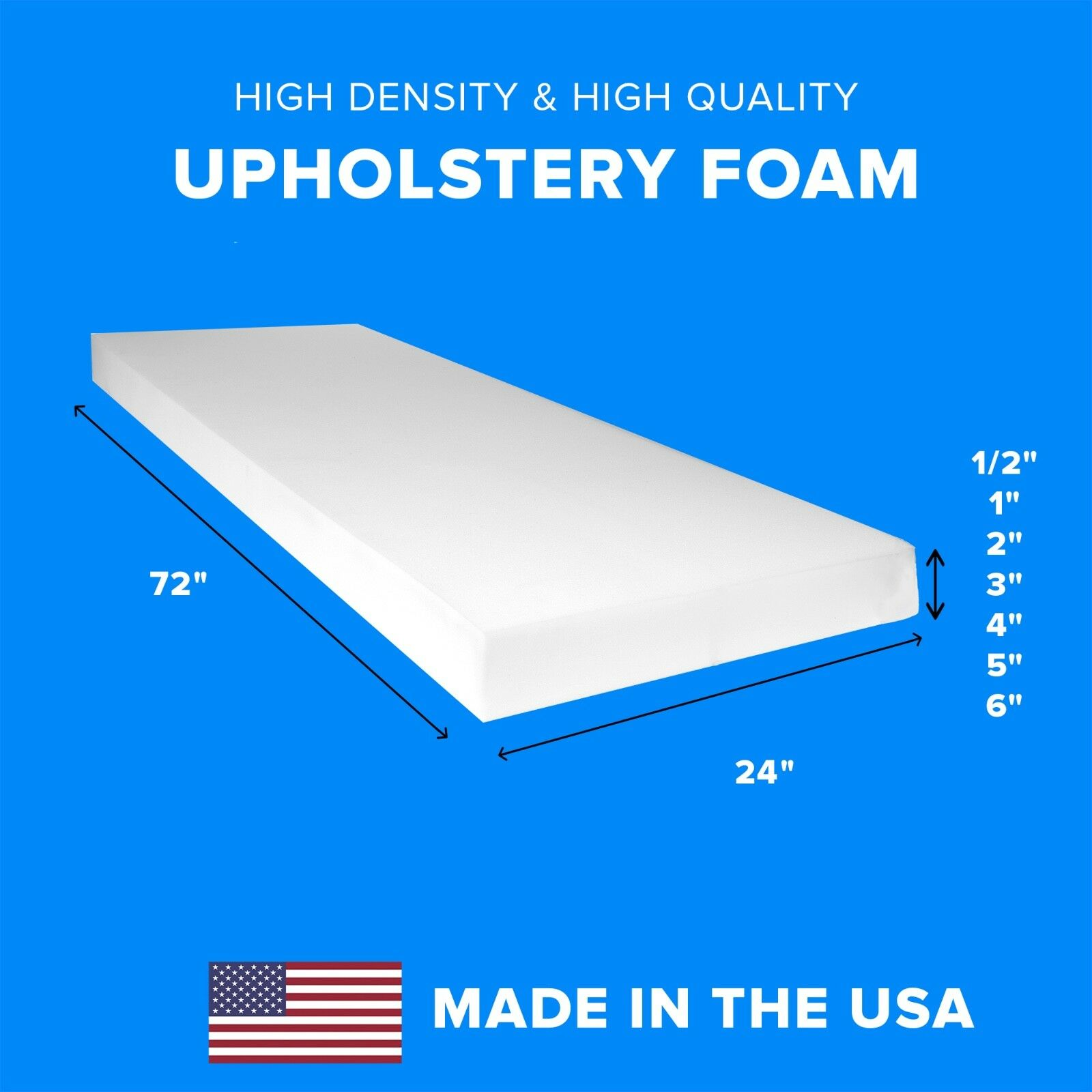 High Density Upholstery Foam Seat Couch Cushion Replacement