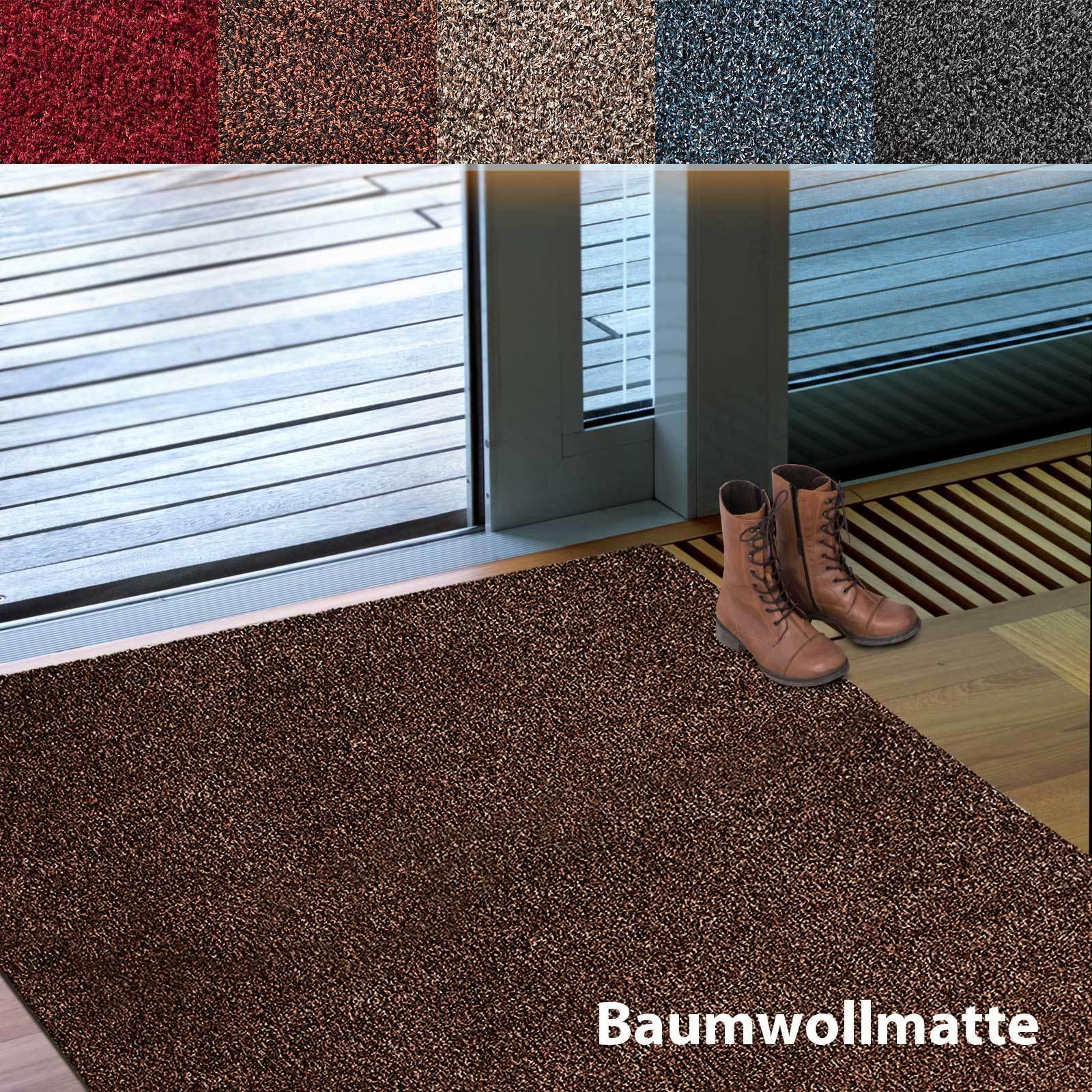 floordirekt 100 baumwollmatte schmutzfangmatte t rmatte eingangsmatte waschbar eur 5 99. Black Bedroom Furniture Sets. Home Design Ideas
