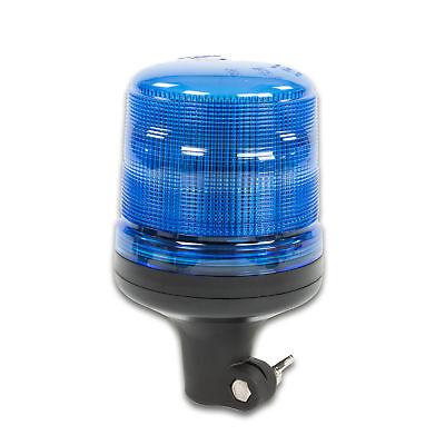 LED-MARTIN Rundumleuchte SESTO - 11 Blitzmuster - blau - DIN-Aufnahme - 12V 24V.
