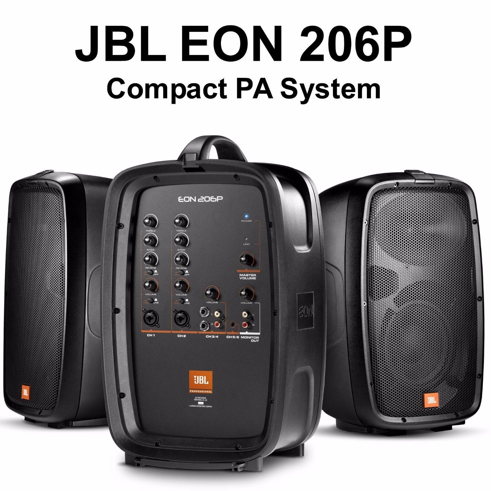 JBL EON 206P 6 Channel Active 160w Compact Lightweight Suitc