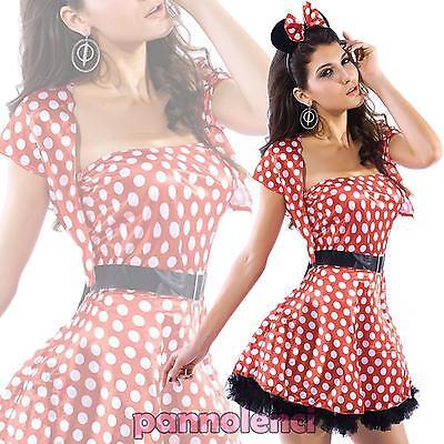 Kostüm Karnevalkleid Frau Disney Minnie Mouse Verkleidung Halloween Neu Dl-021