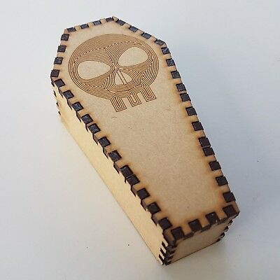 Halloween Coffin For Decoration MDF Wood Party Trick Treat Scull Design scary](Coffin For Halloween)
