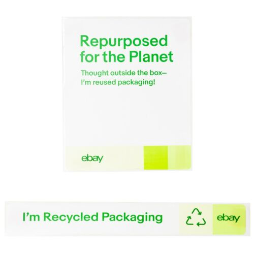 Recycled Packaging Stickers – 100 Pack