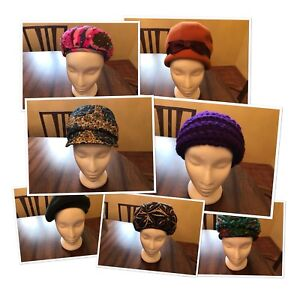 Variety of 1960's Turban, Cloche and Beret Hats