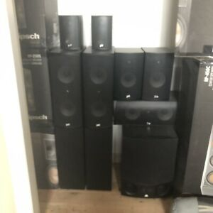 PSB Speakers 7.1 with 10 inch sub woofer