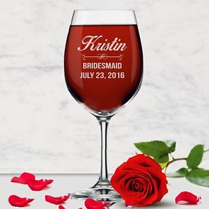 Personalized Engraved 14 oz. Wine Glass With Name - Etched Custom Wine Gift