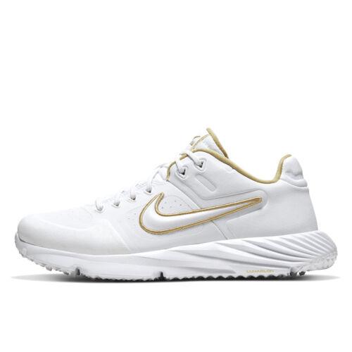NIKE ALPHA HUARACHE ELITE 2 TURF Womens Softball Shoes - White Gold - PICK SIZE