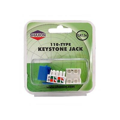 Shaxon Category 5e RJ45 to 110 Keystone Jack (BM603U810-B) ()