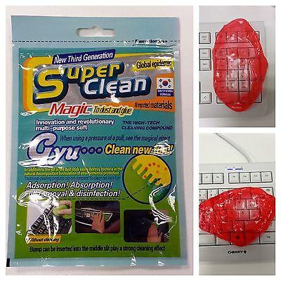2 x Super Clean Magic Gel Tastatur Staub Reiniger Reinigung für Computer Auto