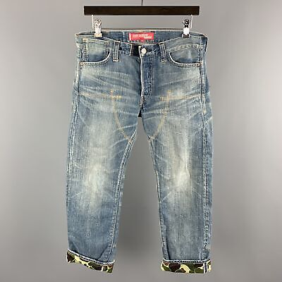 JUNYA WATANABE MAN x LEVIS Size M Blue Wash Selvedge Denim Button Fly Jeans