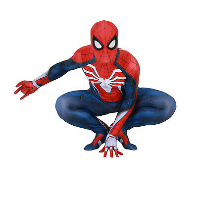 PS4 Spiderman Costume Insomniac Games Version Spider-Man Cosplay Suit Halloween