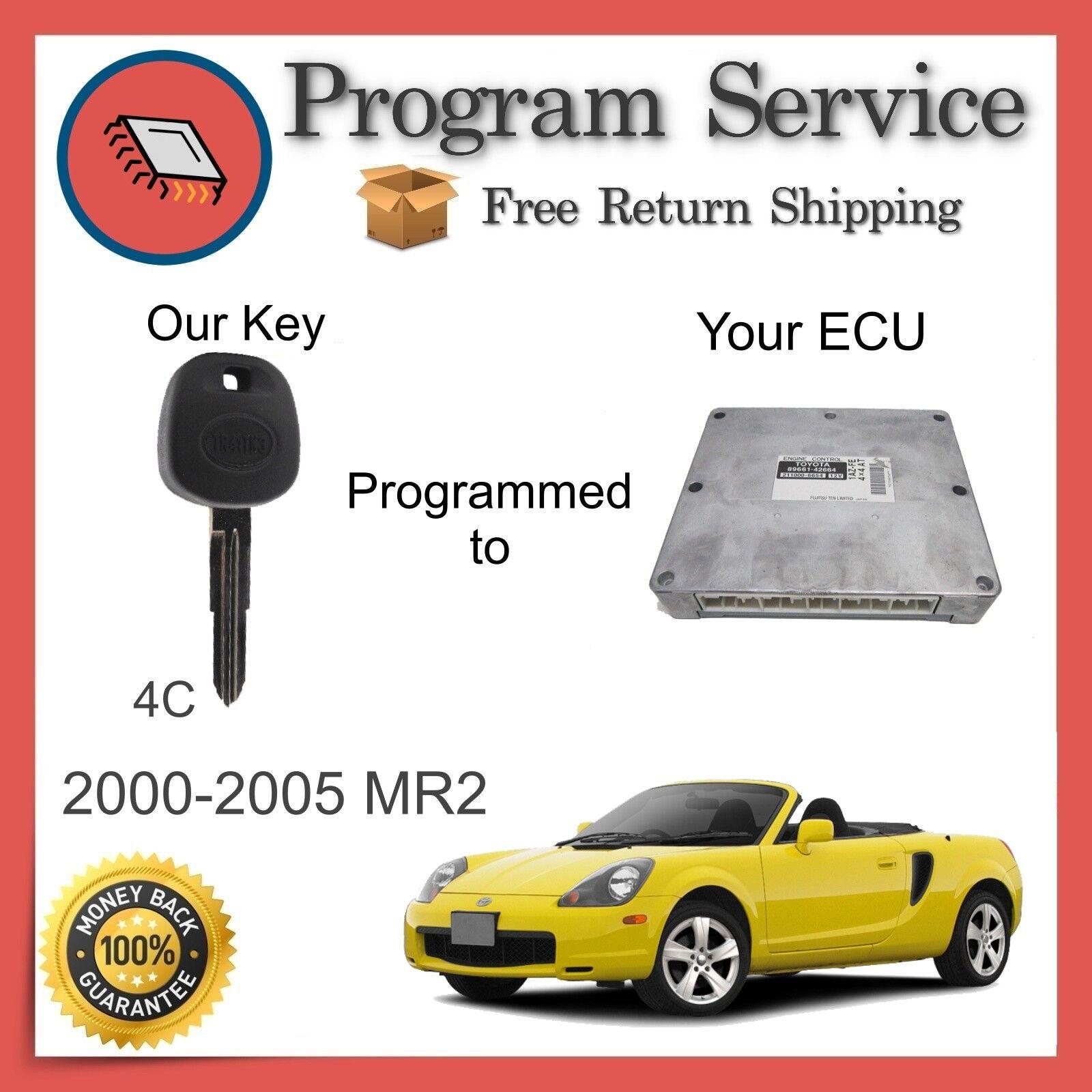 ✅ ECU KEY PROGRAM | Toyota MR2 2000 2001 2002 2003 2004 2005 | 00 01 02 03 04 05