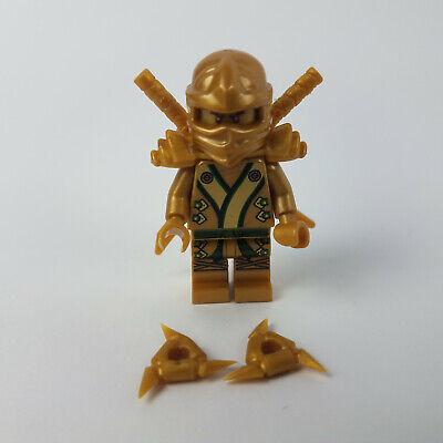 Lego Minifigure njo073 LLOYD GOLDEN NINJA w/Swords Sholder Pads Stars NINJAGO