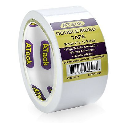Atack Double-sided Tape White 2 Inches X 10 Yards