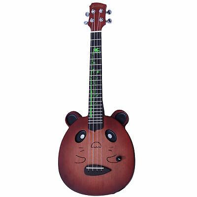 Ukelele panda muzikkon, pandalele, ukelele eléctrico, ukelele con bolsa de viaje