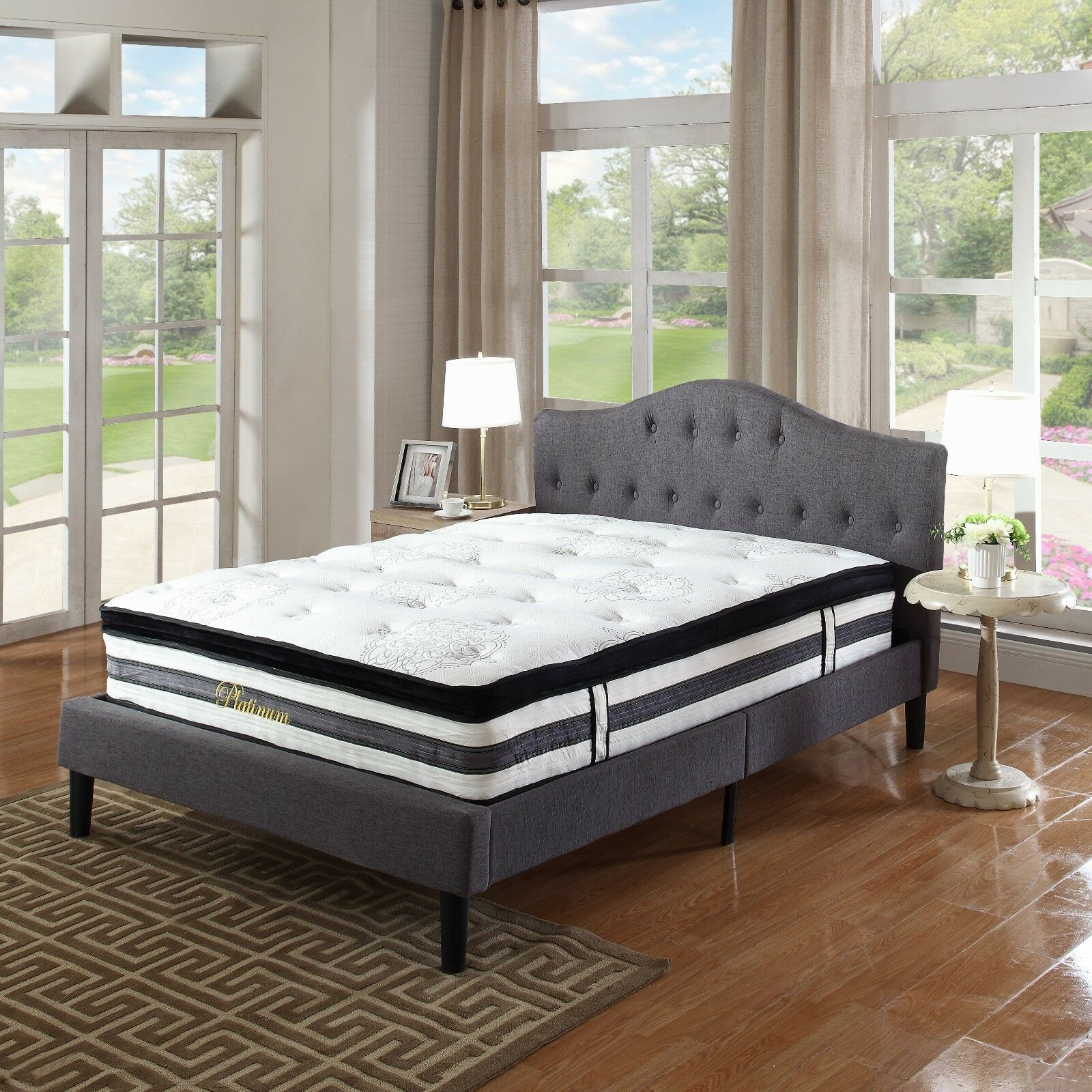 15 Inch Hybrid Innerspring And Memory Foam Mattress With Pillow Top - King