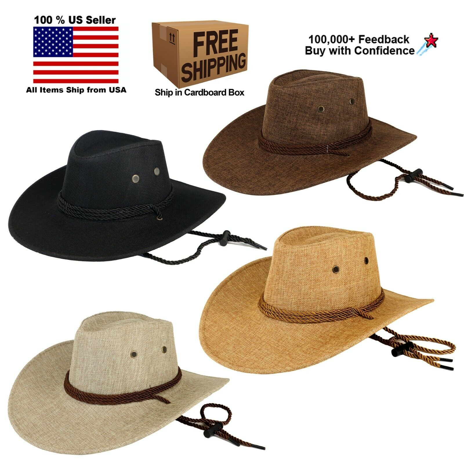 FEDORA PANAMA COWBOY INDIANA JONES UPTURN WIDE BRIM FABRIC HAT Clothing, Shoes & Accessories