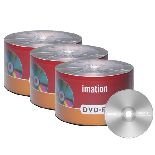150 Pack Imation Dvd-r 16x 4.7gb/120min Branded Logo Blank Media Recordable Disc
