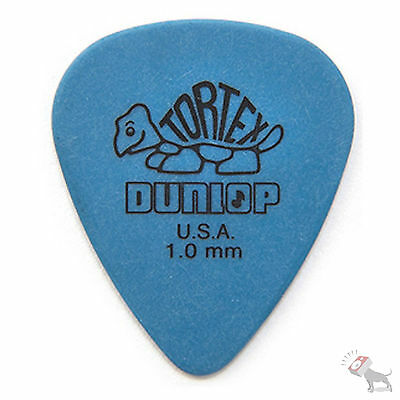 Jim Dunlop Guitar Tortex Picks 1.00 mm Blue Picks 72 Pack Standard 418R1